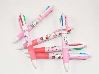Hello Kitty multicolor ballpoint pen 4 colors,2Pcs pink