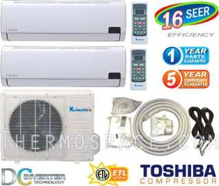 Mini Split AC Ductless Air Conditioner Heat Pump, 30000 BTU Dual Zone