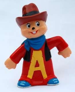 ALVIN CHIPMUNKS Vintage PVC Toy Figure Urban COWBOY
