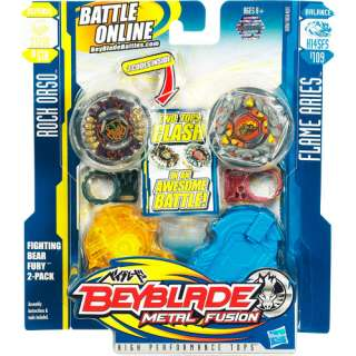 Beyblade Metal Fusion, Fighting Bear Fury 2 Pack: Action