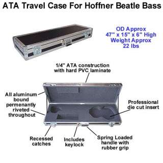 ATA Case for HOFNER BEATLE BASS GUITAR   Brand New!