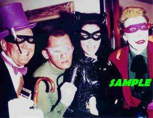 BATMAN JOKER CATWOMAN RIDDLER PENGUIN PHOTO W MASKS