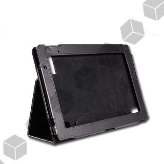Black Leather Flip Case Cover Stand Book