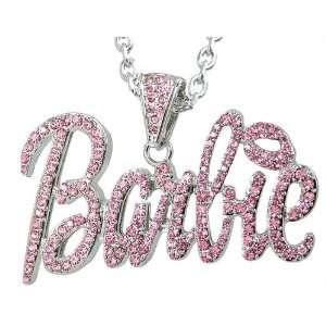 Nicki Minaj Barbie Silver Tones Pink Crystal Pendant Charm