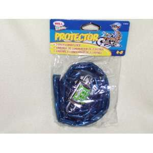Digit Combo Lock & Chain for Bicycle Blue