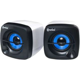 Cube USB Battery Powered Portable Speaker System iPods &  Players