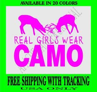 DEER HUNTING DECAL GIRLS CAMO Fishing Elk Girl 1841D