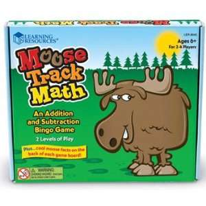 : 12 Pack LEARNING RESOURCES MOOSE TRACK MATH BINGO: Everything Else