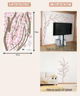 CHERRY BLOSSOM TREE HOME ART WALL DECO STICKER PS45