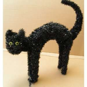Decorative Scared Black Cat Halloween Decoration   17