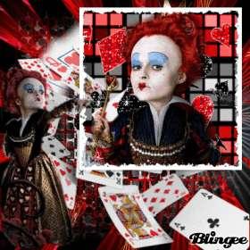 Alice In Wonderland Burton Red Queen Hearts Valentines Day Gift Elbow