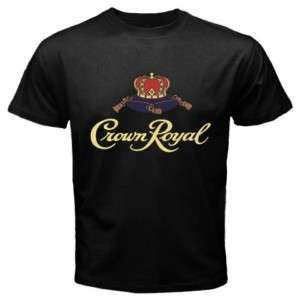 Canadian Whisky Crown Royal Black T Shirt Size S to 2XL