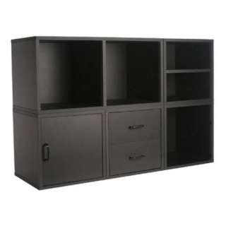 wood cube storage system wall unit organizer in black 45 x 30
