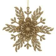 Holiday Time Gold Fancy Snowflake Christmas Ornament