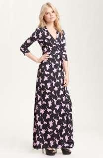 Diane von Furstenberg Abigail Print Silk Jersey Maxi Wrap Dress