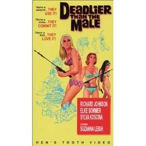 Deadlier Than Male [VHS]: Richard Johnson, Elke Sommer