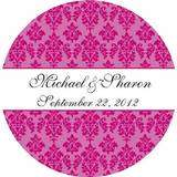 24 Personalized Damask Envelope Seals Stickers Labels
