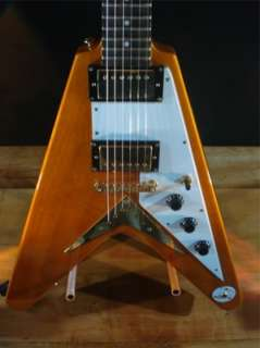 Epiphone 1958 Korina Flying V Electric Guitar   Natural