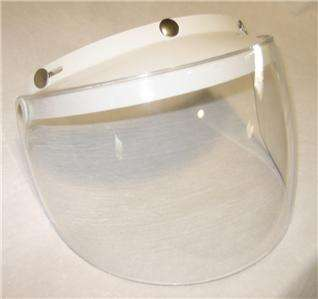 Half & Open Face Helmet Shield / Visor Combo