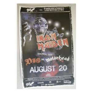 Iron Maiden Ronnie James Dio Handbill Poster Everything