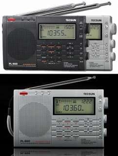 TECSUN PL660 FM、SW、MW、LW、AIR SSB PLL World Radio Silver