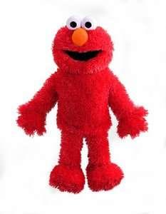 sesame street elmo plush full body hand puppet