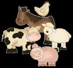 FARM BARNYARD COW HORSE DUCK CHICKEN SHEEP NURSERY WALL MURAL STICKERS
