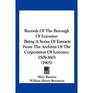 ): Mary Bateson, William Henry Stevenson, John Edward Stocks: Books