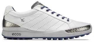 Ecco Mens Biom Hybrid Golf Shoes 131504 50091 White/Royal Yak Leather