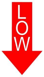 LOW Arrow Sticker Decal JDM Slammed Stance Euro Car Tow