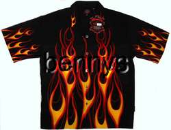 NEW Classic Flames Biker Hot Rod Shirt, Dragonfly, XXL