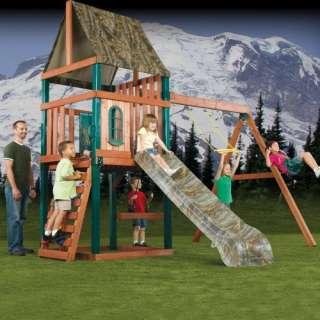 Swing N Slide Woodsman Wood Swing Set Outdoor Play