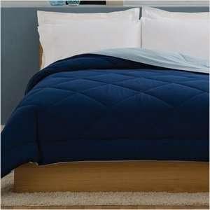01 PEM America Villa King Comforter in Light Blue / Dark Blue Bedding