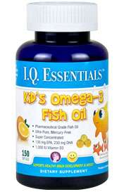 PURITY PRODUCTS Kids Omega3 fish oil DHA EPA Vitamin D3 Ultra Pure150
