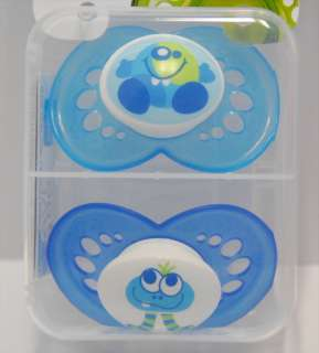 NEW MAM Baby Pacifiers BOY GIRL 6 M+ Monsters 3 Styles