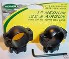 Weaver 1 Med .22 BB Gun Air Rifle Scope Mount Rings 92