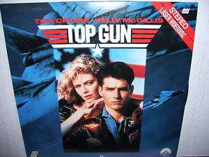 TOP GUN TOM CRUISE KELLY MCGILLIS laserdisc ld 13