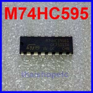 10 x M74HC595B1R 74HC595 8 bit Shift Register M74HC595