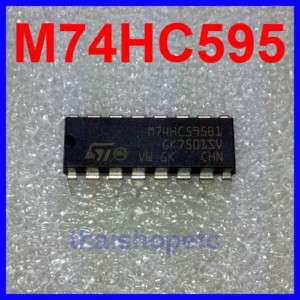 10 x M74HC595B1R 74HC595 8 bit Shift Register M74HC595