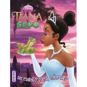 Tiana y el sapo. Un cuento para colorear (9788444163383