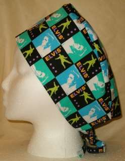 ELVIS PRESLEY FABRIC SURGICAL SCRUB HAT SKULL CAP YOU PICK MEDICAL