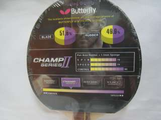 Butterfly Champ II F2 Series Table Tennis Blade/Paddle