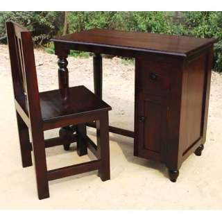Casual Solid Wood Student Writing Desk Chair Study Computer Table