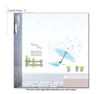 RAINY DAY  Home Decor Art Wall Sticker Removable Decals