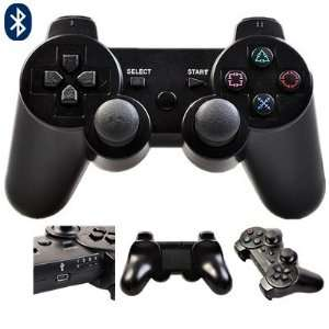 ATC Black Wireless Bluetooth Controller for Sony PlayStation 3 With 3D