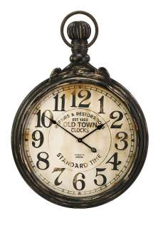 Hanging Gallery Industrial Chic Distressed Wall Clock 1863 London